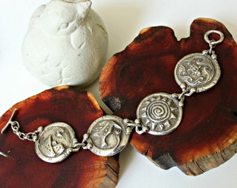 Earth, wind, fire, water...4 elements bracelet