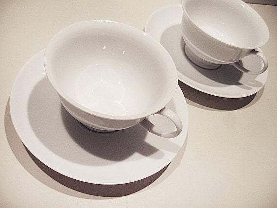 ROSENTHAL GROUP Coffee / Tea Cups. VINTAGE. Elegant. Simple. Pure White – set of 2