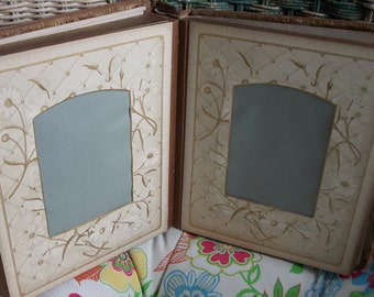 4 8x10 VIctorian Photo Album PAGES for your Collage, Art work, Mixed Media