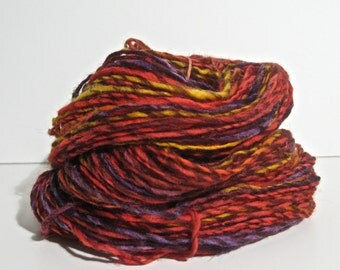 Handspun Yarn - DK Weight Wool Singles - 144 yards of Carnival of Souls
