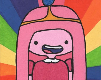Bubblegum Princess // Adventure Time Fan Art Print