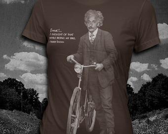 Albert Einstein Bicycle quote Womens t-shirt Science T-shirt