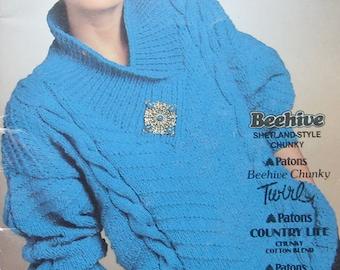Patons Chunky Sweater Knitting Pattern Book