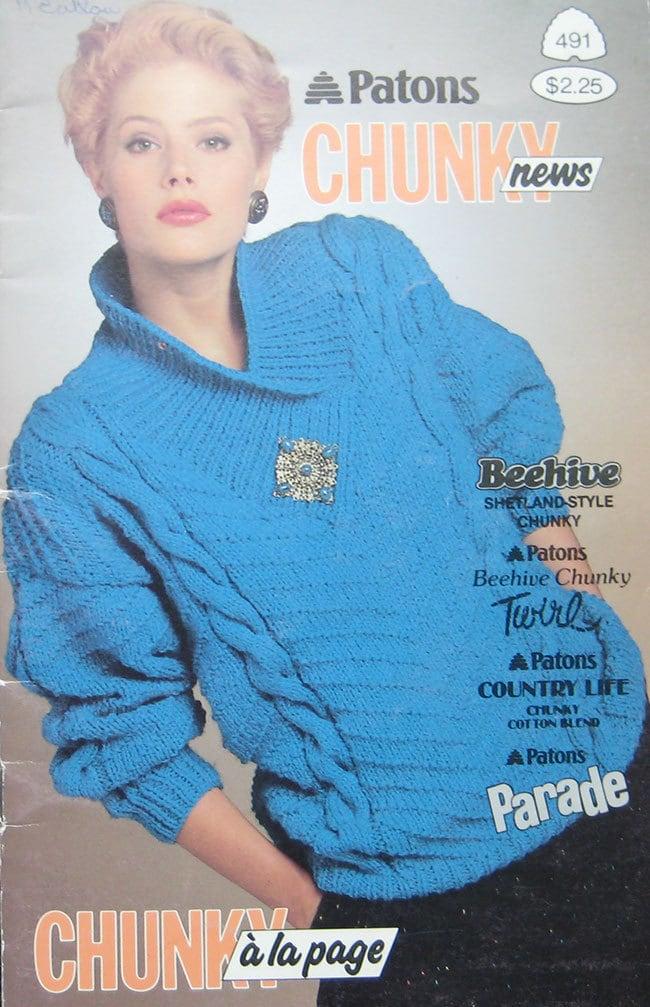 Patons Chunky Knitting Patterns : Patons Chunky Sweater Knitting Pattern Book