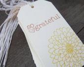 So Grateful Yellow Mum Set of 12 Tags.  Place Setting. Goodie Bag. Fall. Thanksgiving. Shop Hang Tags. Weddings