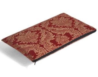 SALE! Red fabric case for Asus ZenBook VX305, Surface Book cover, sleeve, upholstery fabric zipper bag