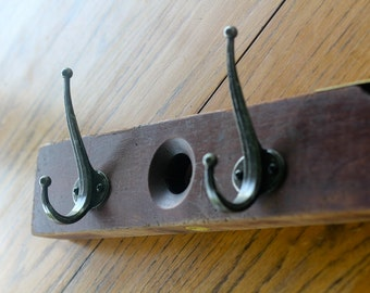 Rustic wooden Level Hook Rack
