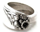 Spoon Ring All Sizes Daffodil from 1950 Antique Silverware