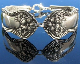 Ornate (All Sizes) Floral Spoon Bracelet Arbutus Pattern flatware