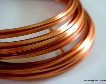 Square Copper Wire Non-Tarnish 18 Gauge Soft Tempered - 21 feet - STR9062WR-CSQ21