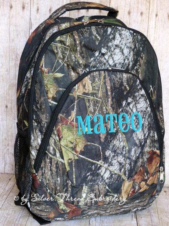 Boys Personalized Backpack Camo Mossy Oak School Monogrammed