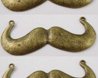 Large Bronze Mustache Pendant