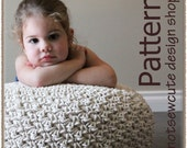 Cotton Rope Pouf - Crochet Pattern (PDF) - INSTANT DOWNLOAD