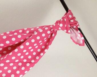Riley Blake Hot Pink Dot Baby Blanket Flannel Swaddler
