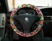 SALE Brown Paisley Steering Wheel Cover
