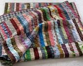 "SALE ... farmhouse / homespun nap quilt.....70"" x 56"".....echo quilt no. 36 ..... ready to ship"