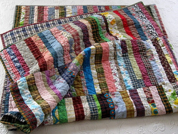 "Special lisitng for keevenma.....farmhouse  baby boy quilt.....30""x40"".....echo quilt no. 39"