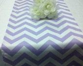 CHOOSE SIZES LAVENDER - Chevron Zigzag lavender, lilac, light purple and white zig zag Table Runner Chevron Wedding Bridal Sofia the First