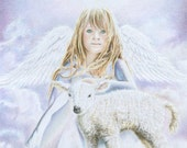 Original Christian Angel Artwork the Promise