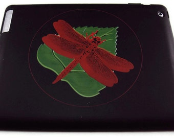 Silicone Ipad 2, 3, or 4  Protective Case  Dragonfly Image