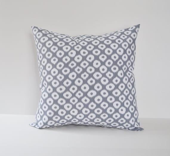 Decorative Pillow Cover 12x16 : Items similar to Pillow Cover Decorative Pillows Throw Pillows Grey Pillow Ikat Pillow 12x16 ...