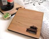 Wood Coasters - Home Sweet Home