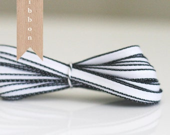 White with Black edge ribbon