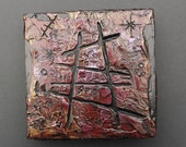 Journey - Modern Textured Acrylic Art Wood Canvas Painting