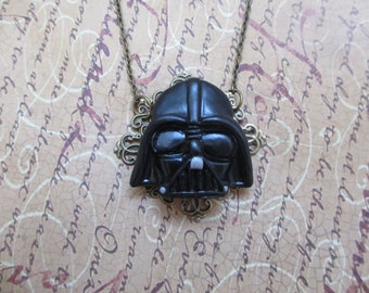 Lord Vader mask necklace