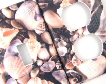 Sea Shells Light Switch Cover Outlet Cover Switchplate