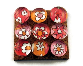 Decorative Glass Push Pins  Thumb Tacks Cork Board Pins in Fruit Punch (P24)
