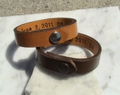 HIs & Hers - For Your Eyes Only - set of two - secret message band without topstitch - 1/2 inch wide bands