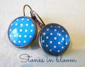 Earrings - Polkadots in Light Blue