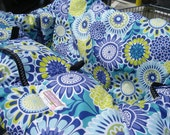 Shopping Cart cover  for boy or girl.....Blue Floral