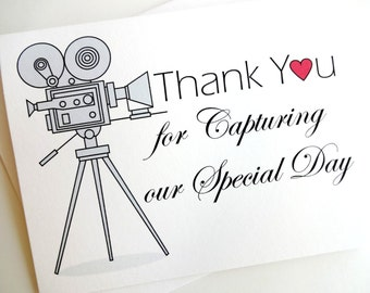 Wedding Videographer - Thank You Card for Wedding Video