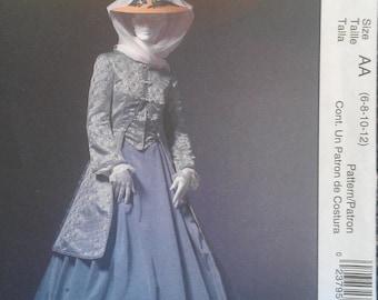 Civil War Era Coat Skirt Riding Jacket Walking Suit Shawl Sewing Pattern 4697 6 8 10 12