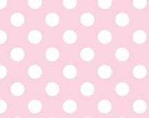 Clearance SALE!!!  RBD, Flannel Medium Dots in Baby Pink (F360-72) - 1 yard