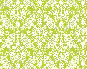 RBD, Medium Damask White on Lime (C830 32)