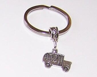 SHORT BUS Key Ring - Key Chain - Key Holder - School Bus