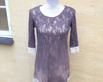 Mocca -  Fairy Hand Dyed Ombre Lace Dress