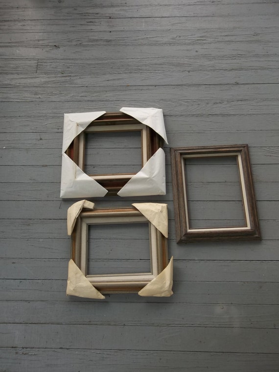 3 Vintage Frames Wood Picture Frames NOS Wooden Frames Wedding Photos French Country Farmhouse Photo Frames Frame Collection Set of 3