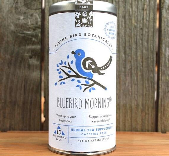 0434 Bluebird Morning 15bag tin, Organic tea