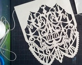 Papel Picado Banners . CHANDELIER custom color wedding garland