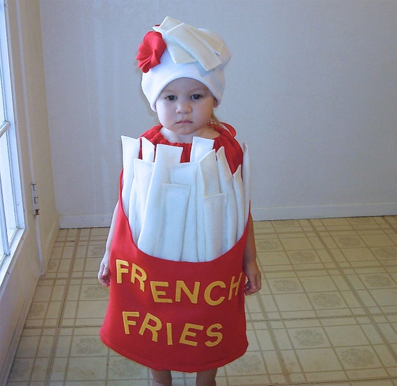 French Fry Costume  Kids Costume Halloween Costume French Fries with a Dollop of Ketchup