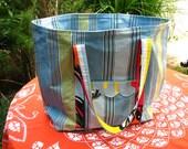 SALE - The Norfolk Beach Bag in deckchair stripes