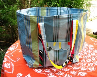 SALE - The Norfolk Beach Bag in deckchair stripes