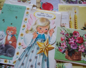 sweet vintage box of all occasion cards