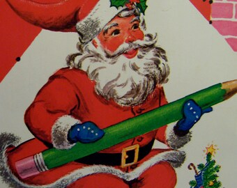 1975 santa dot to dot coloring book