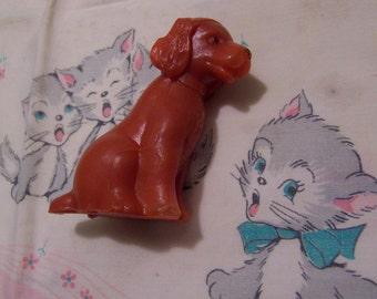 plastic pooch figurine