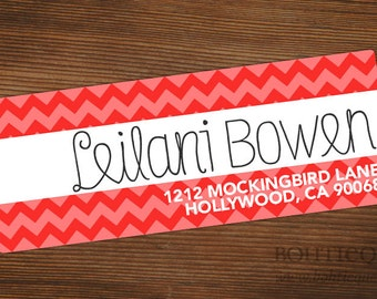 Personalized Return Address Label Sticker - Chevron Fun